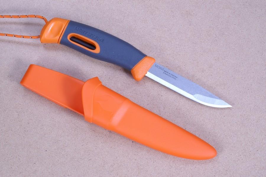 light my fire messer fireknife aus rostfreiem edelstahl mit feuerstahl in orange produziert. Black Bedroom Furniture Sets. Home Design Ideas
